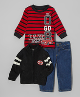 Black Sweater Jacket Set - Infant
