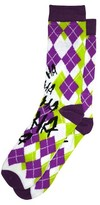 Bioworld Joker Argyle Crew Socks