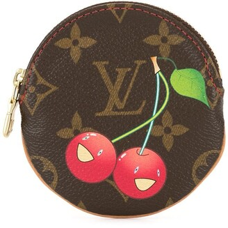 Louis Vuitton Pre Owned cherry print coin purse