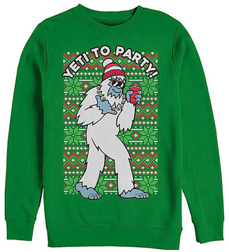 Fifth Sun Men's Sweatshirts and Hoodies KELLY - Kelly Green 'Yeti to Party' Crewneck Sweatshirt - Men