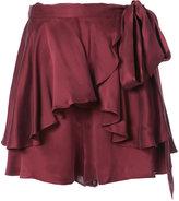 Zimmermann frill wrap shorts