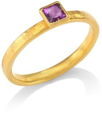 Gurhan Delicate Hue Square Amethyst Stacking Ring