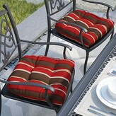 Andover Mills Striped Indoor/Outdoor Dining Chair Cushion