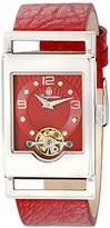 Burgmeister Delft Women's Automatic Watch with Red Dial Analogue Display and Red Leather Strap BM510-144