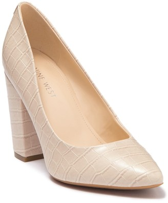 Nine West Alisa Pointed Toe Embossed Pump
