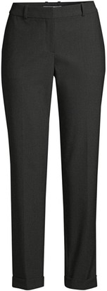 BOSS Tocanes1 Stretch Wool Blend Pinstripe Cuffed Trousers