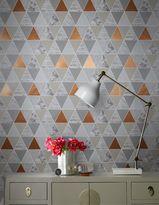 Graham & Brown Copper Reflections Geometric Wallpaper