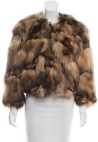 Trilogy Collarless Fox Fur Jacket