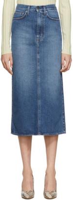 Totême Blue Denim Bitti Skirt