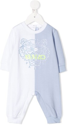 Kenzo Kids Two-Tone Tiger Logo Pajama