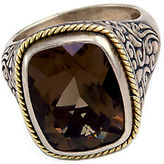 Effy Balissima Sterling Silver and 18K Yellow Gold Smokey Quartz Ring