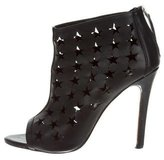 Alice + Olivia Laser Cut Peep-Toe Booties