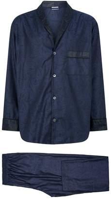 Zimmerli Cotton Jacquard Pyjama Set