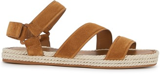 Vince Elian 25 brown suede espadrille sandals
