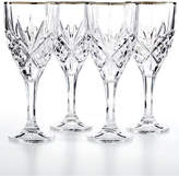 Godinger Dublin Platinum Goblets, Set of 4