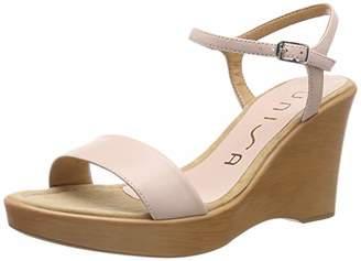 Unisa Women's Rita_19_na Ankle Strap Sandals, Beige Pale