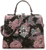 Kelly & Katie Women's Miltassia Satchel -Black/Pink/Multicolor Floral