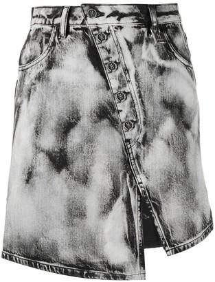 Pinko Denim Asymmetric Skirt
