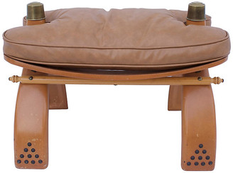 One Kings Lane Vintage Egyptian Camel Saddle Stool - G3Q Designs - camel/brown/gold