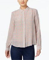 Max Mara Silk Fish-Print Shirt