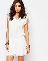 Noisy May Romper With Lace Trim