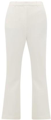 Goat Joey High-rise Wool-crepe Trousers - Womens - Ivory