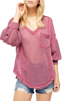 Free People Fresh & New Hacci Knit Top