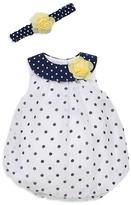Little Me Girls' Dot Dress & Headband Set - Baby