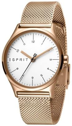 Esprit Womens Analogue Quartz Watch with Stainless Steel Strap ES1L034M0085