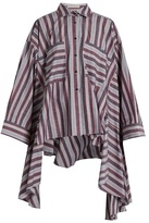 Palmer Harding PALMER//HARDING Poet striped patch-pocket cotton-blend shirt