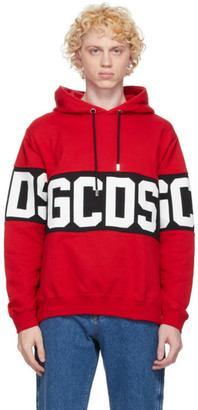 GCDS Red Band Logo Hoodie