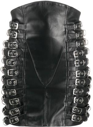 Manokhi Tannia side buckle detail skirt