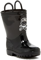 Capelli of New York Pirate Skull Tall Rain Boot (Toddler)