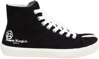 Maison Margiela Tabi Sneakers In Canvas Color Black