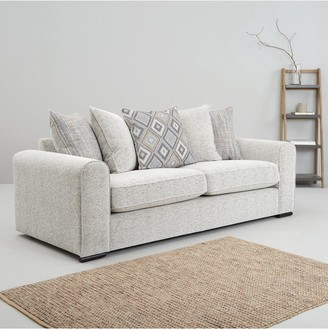 Lewis Fabric 3 Seater Scatter Back Sofa