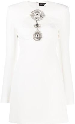 David Koma Crystal-Embellished Mini Dress