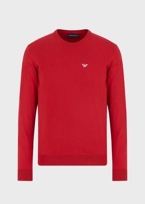 Emporio Armani Sweater With Embroidered Eagle