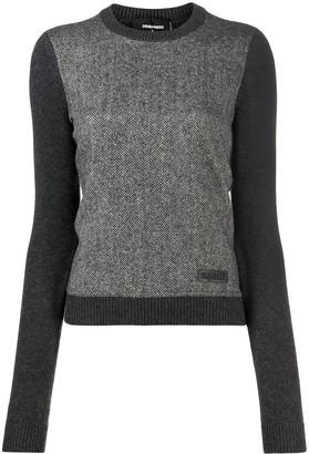 DSQUARED2 Herringbone Knitted Jumper