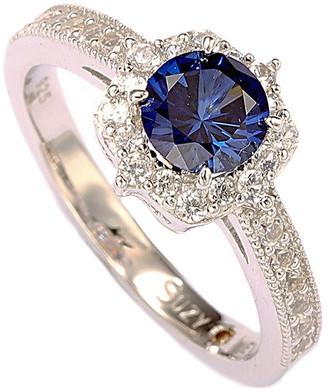 LeVian Suzy Silver Diamond & Sapphire Ring