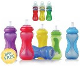 Nuby BPA FREE 10 oz Sports Sipper bottle, Boy Colors