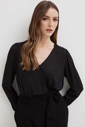 Witchery Drape Front Blouse