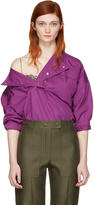 Nina Ricci Purple Sporty Blouse