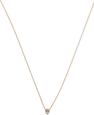 Ef Collection White Topaz Teardrop Necklace