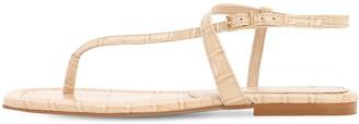 Carvela Kurt Geiger 10mm Croc Embossed Thong Sandals