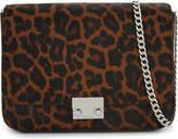Loeffler Randall Leopard-print haircalf and leather cross-body bag