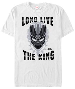 Marvel Men's Black Panther Long Live The King of Wakanda Short Sleeve T-Shirt