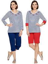As Is Quacker Factory Sequin Splash 3-Piece Knit Wardrobe Set