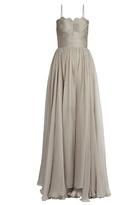 Maria Lucia Hohan Marianne laced-back silk gown