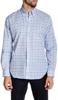 Tailorbyrd Light Blue Long Sleeve Print Woven Shirt