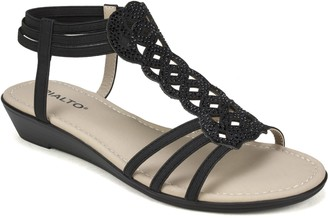 Rialto by White Mountain Pull On Sandals - Genova